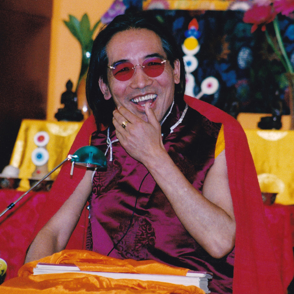 Rinpoche while teaching.